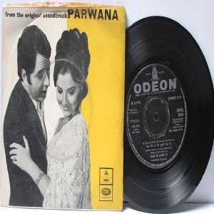 "BOLLYWOOD INDIAN Parwana MADAN MOHAN Asha Bhosle MOHD. RAFI 7"" 45 RPM EMI Odeon EP  1971"