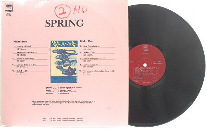 MALAY POP ROCK 90s BAND Spring PROMO LP 1991