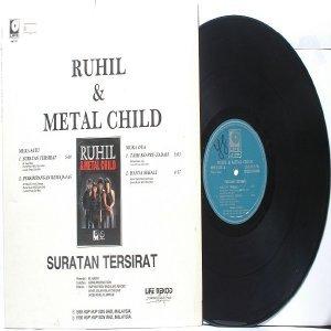Malay  Rock Metal Band RUHIL & METAL CHILD Suratan Tersirat PROMO LP