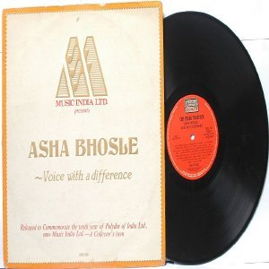 BOLLYWOOD LEGEND Asha Bhosle VOICE DIFFERENCE India LP