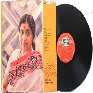 BOLLYWOOD LEGEND Asha Bhosle 16 HEROINES EMI India HMV LP