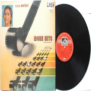 BOLLYWOOD LEGEND Asha Bhosle GREAT SONGS EMI India HMV LP 45 RPM!
