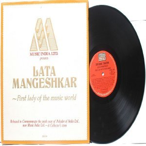 BOLLYWOOD LEGEND Lata Mangeshkar  FIRST LADY  POLYDOR India LP  Embossed Cover