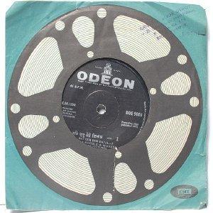 "BOLLYWOOD INDIAN  Nanak Dukhia ASHA BHOSLE Mukesh  7"" 45 RPM EMI Odeon EP 1971"