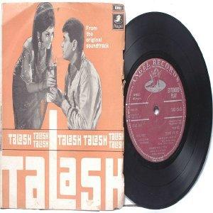 "BOLLYWOOD INDIAN  Talash S.D. BURMAN Asha Bhosle   7"" 45 RPM EMI Angel  PS EP  1969"