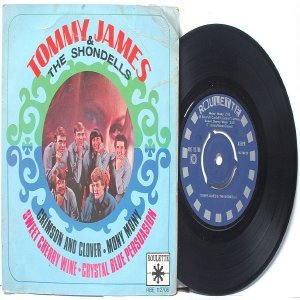 """TOMMY JAMES & THE SHONDELLS Mony Mony 4 TRACK INTERNATIONAL 7"""" PS EP Roulette"""