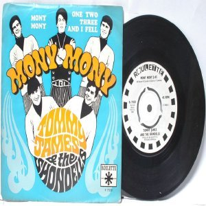 """TOMMY JAMES & THE SHONDELS Mony Mony INTERNATIONAL Roulette 7"""" PS"""