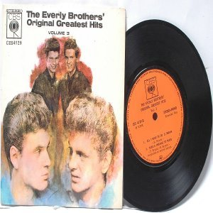 "EVERLY BROTHERS Greatest Hits Vol. #3 INTERNATIONAL Asia CBS 7"" PS EP"