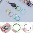 Multicolor Metal Keychain Metal Keyring Loose-leaf Ring Binding Book Hoops