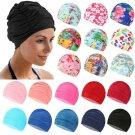 Unisex Free Size Swimming Cap Long Hair Protect Pool Bathing Hats Nylon Turban~