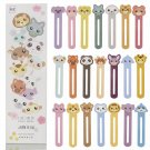 Students Cute Animal Diary Lable Bookmark Paper Ruler Books Clips Message Card