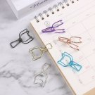 Color School Stationery Binder Clip Hollowed Out Design Fish Clip Office Supply