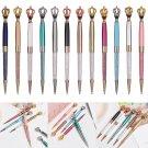 Smooth Office Supplies Crystal Pen Metal Ballpoint Pen Signature Diamond Crown