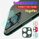 Ring Case Camera Lens Protector Tempered Glass Film For iPhone 11 Pro Max