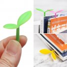 Stationery Novelty Reading Book Clip Cute Grass Note Pad Memo Silicone Bookmark