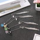 Supplies Vintage Metal Tassel Dried Flower Pagination Mark Book Clip Bookmark