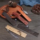 Chinese Style Vintage Book Clip Sandalwood Label Bookmark Pagination Mark