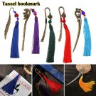 Vintage Traditional Long Tassels Retro Metal Bookmark Book Mark Chinese Style