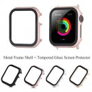 Glass Screen Protector Protective Case For Apple Watch iWatch Series 4/3/2/1
