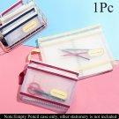 Cosmetic Storage File Folder Zipper Pencil Case Document Bag Double Pocket