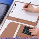Organizer Leather Document Holder File Folder Manager Portfolio Business Filing