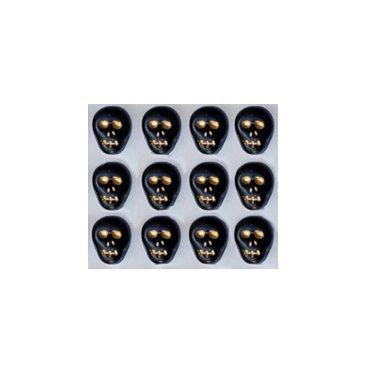 Black Skull Beads Glass Czech Day of the Dead
