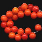 Shades of Tangerine Orange Fruit CZ Glass Beads NEW!