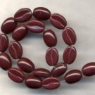 Espresso Coffee Bean Glass Fruit Beads Very Realistic 25 Pieces