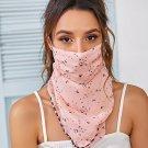 Heart Pattern Pink Women Face Mask