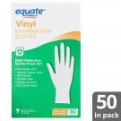 Equate Vinyl Power Free Examination Universal Size Gloves