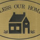 "T&T#45  Brass Door ""BLESS THIS HOME"" Plaque Sign - NIP"