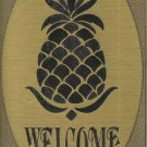 "T&T#45 Brass Door ""Welcome"" Pineapple Plaque Sign Hawaii"