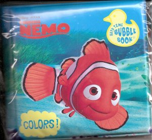 FINDING NEMO Baby Bath Time Bubble Book Vinyl