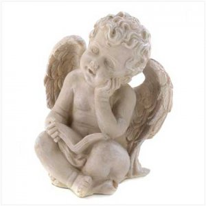 Reading Cherub Figurine (39836)