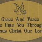 T&T#45 Brass Door (Grace Peace Dove) Plaque Sign ~ NIP