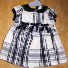 GEORGE Baby Girl Black & White Plaid Holiday Dress ~ 3-6m
