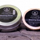 VOLCANIC MAN SHAVING SOAP AND DISH (With Tamanu Oil)