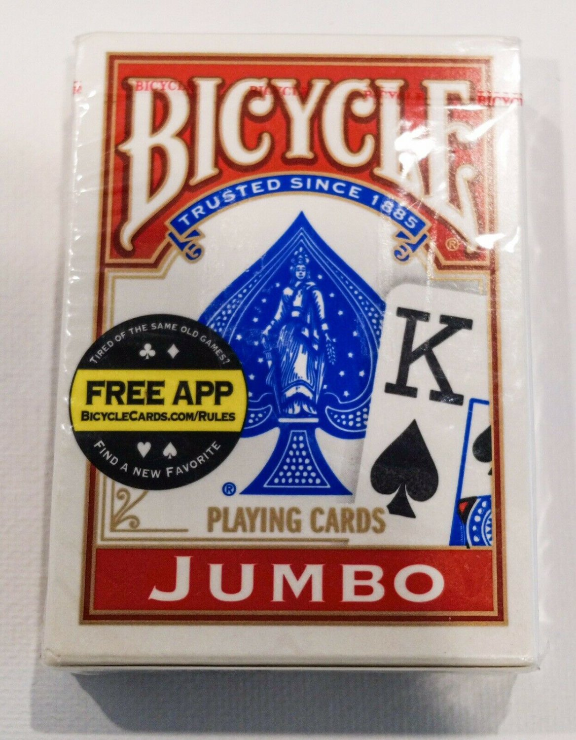 Bicycle Jumbo Red Playing Cards (New)
