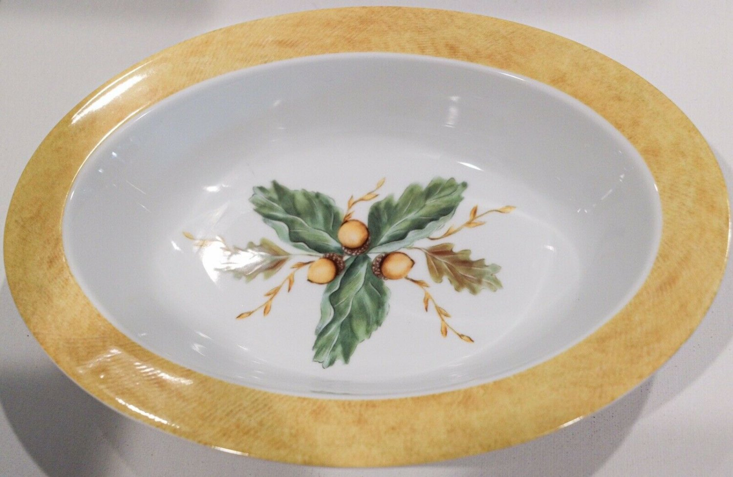 """Fitz and Floyd English Oaks 11"""" Oval Vegetable Bowl"""