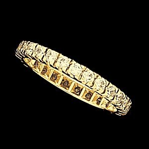SH44  ETERNITY BAND 14K Yellow  SIZE 7-28 STONE  Semi-Polished