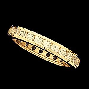 SH88 ETERNITY BAND  14K Yellow  SIZE 7-27 STONE  Polished