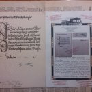 1935 ADOLF HITLER HAND SIGNATURE DOCUMENT CERTIFICATE COA