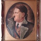 1932 ADOLF HITLER PORTRAIT IN THE FRAME BUST HEAD LARGE