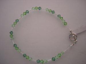 Crystal/Silver green Bracelet