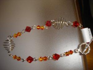 Fire Swarovski crystal Bracelet