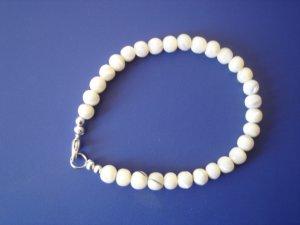 White Turquoise gemstone bracelet