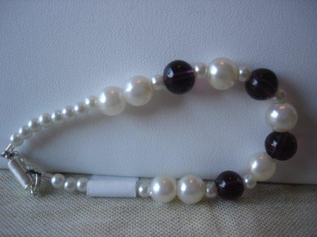 Amethyst/Pearl Bracelet