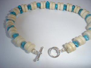 Turquoise/Wood Bracelet