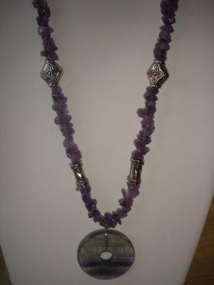 Amethyst/Fluorite Chips Necklace