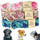 Raggy Stylz's Customized Floral Print Personalized Dog Collar medium size